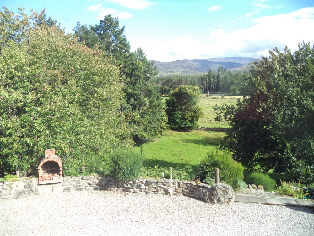The view from the drive-way of the Auchterawe Country House.