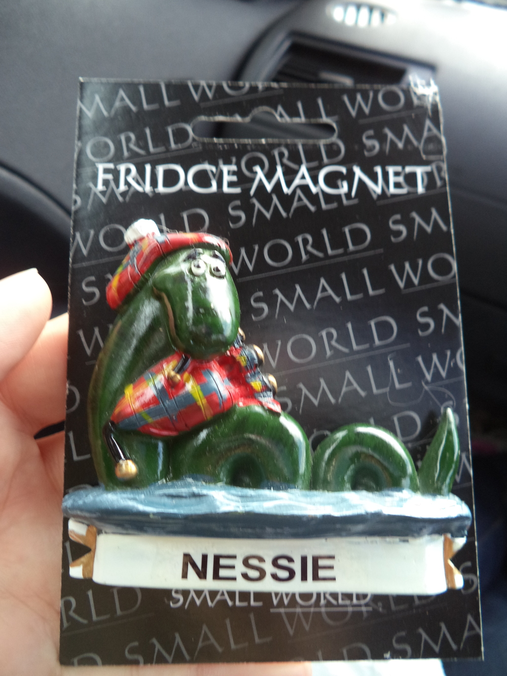 Our tacky souvenir from Scotland.