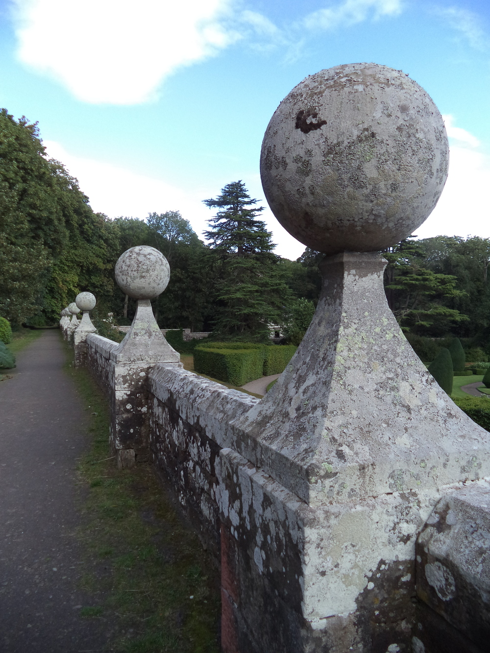 Pillars at Dunrobin Castle.