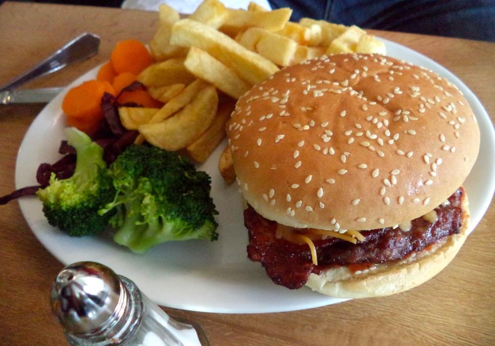 Dan's burger.