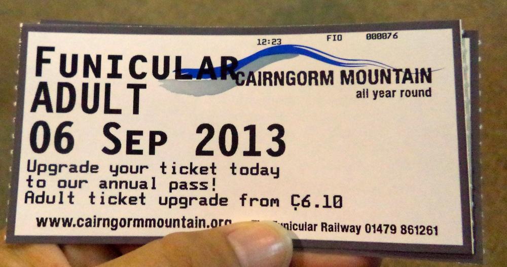 Funicular Ticket.