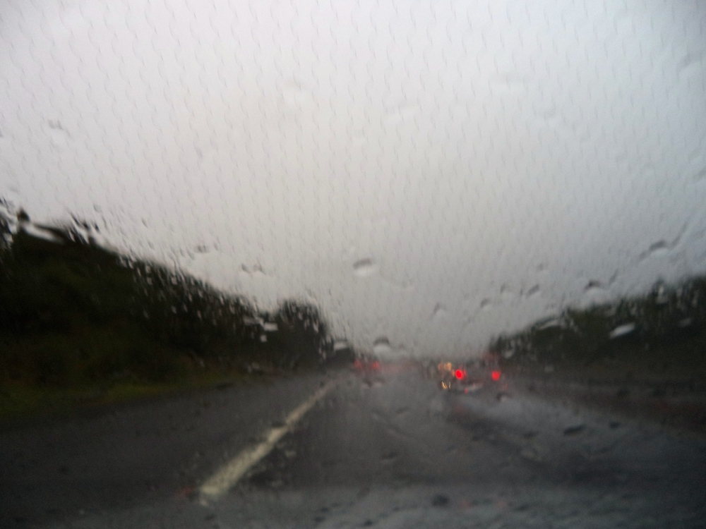 Our rain soaked drive in Scotland.