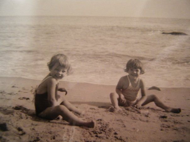 My aunt (Left) and mom on Santa Monica Beach.