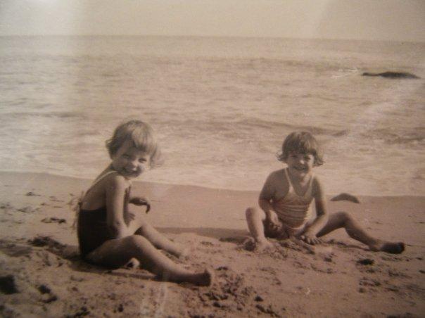My aunt (Left) and mom on Santa Monica Beach.
