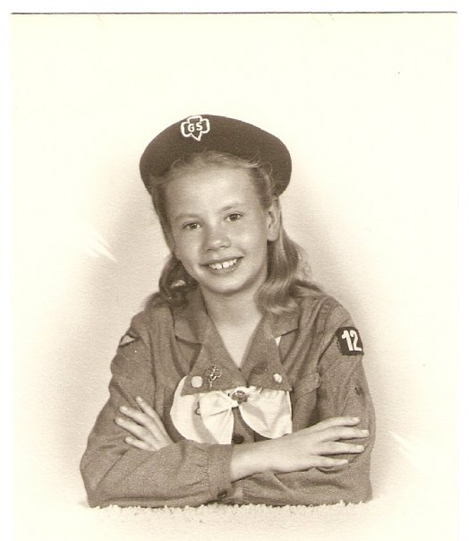 My aunt's Girl Scout picture.