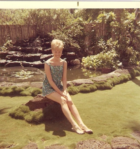 My aunt in Hawaii in the 60's.