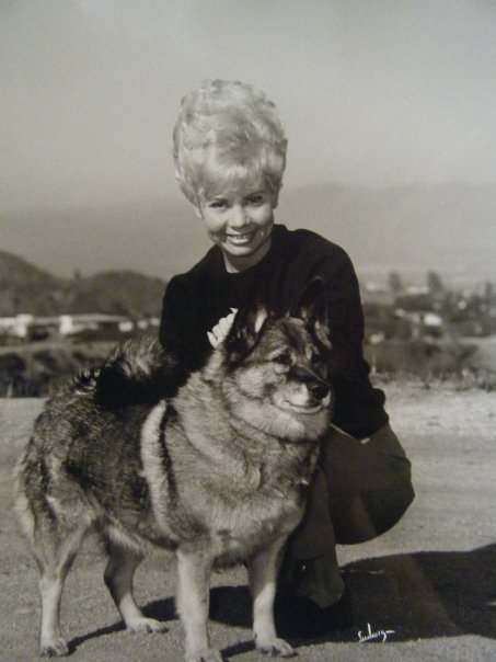 My aunt with her show dog.