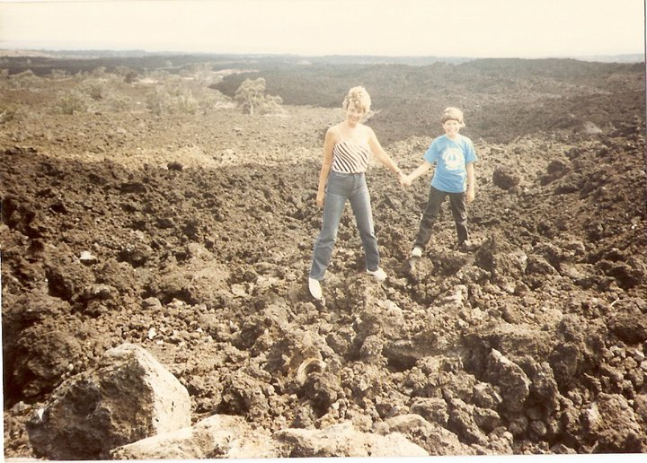 My aunt and I at Kilauea Volcano in the 80's.