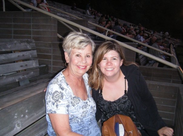 My aunt and I at The Hollywood Bowl for Faith Hill.