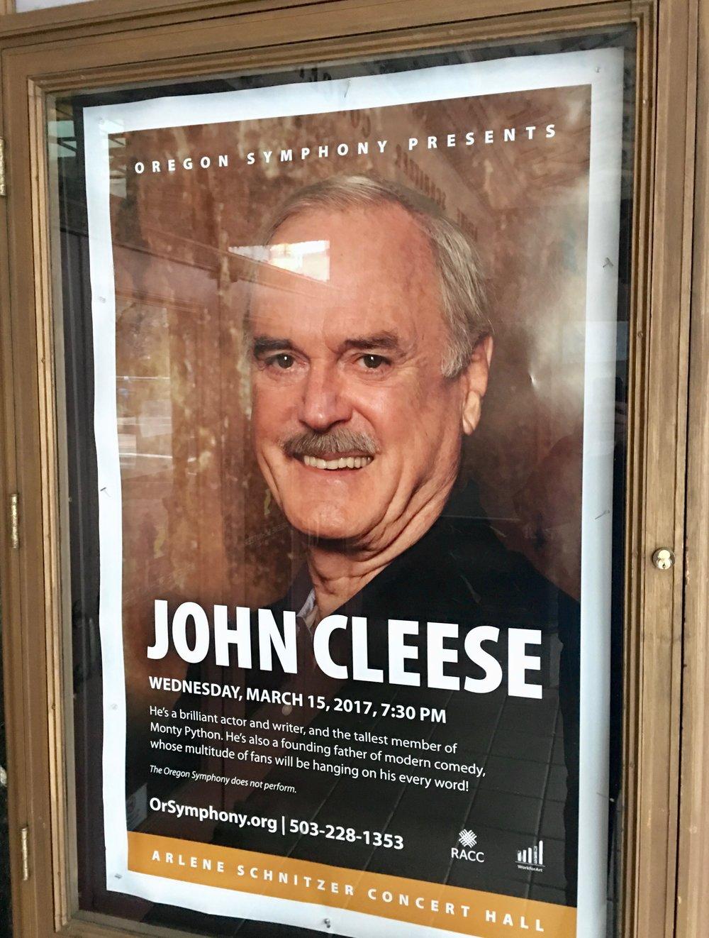 John Cleese At The Arlene Schnitzer Concert Hall Always Packed For - Arlene schnitzer tickets