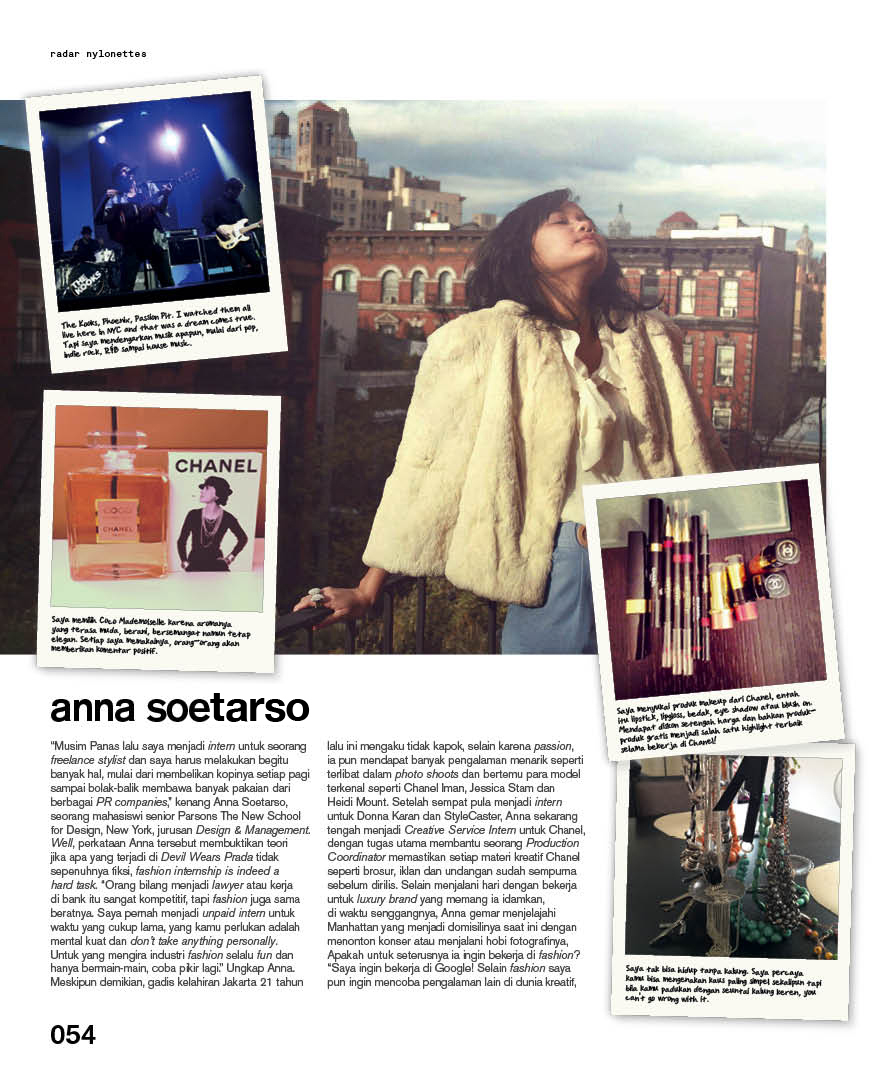 Featured in NYLON Indonesia, September 2012 Edition.