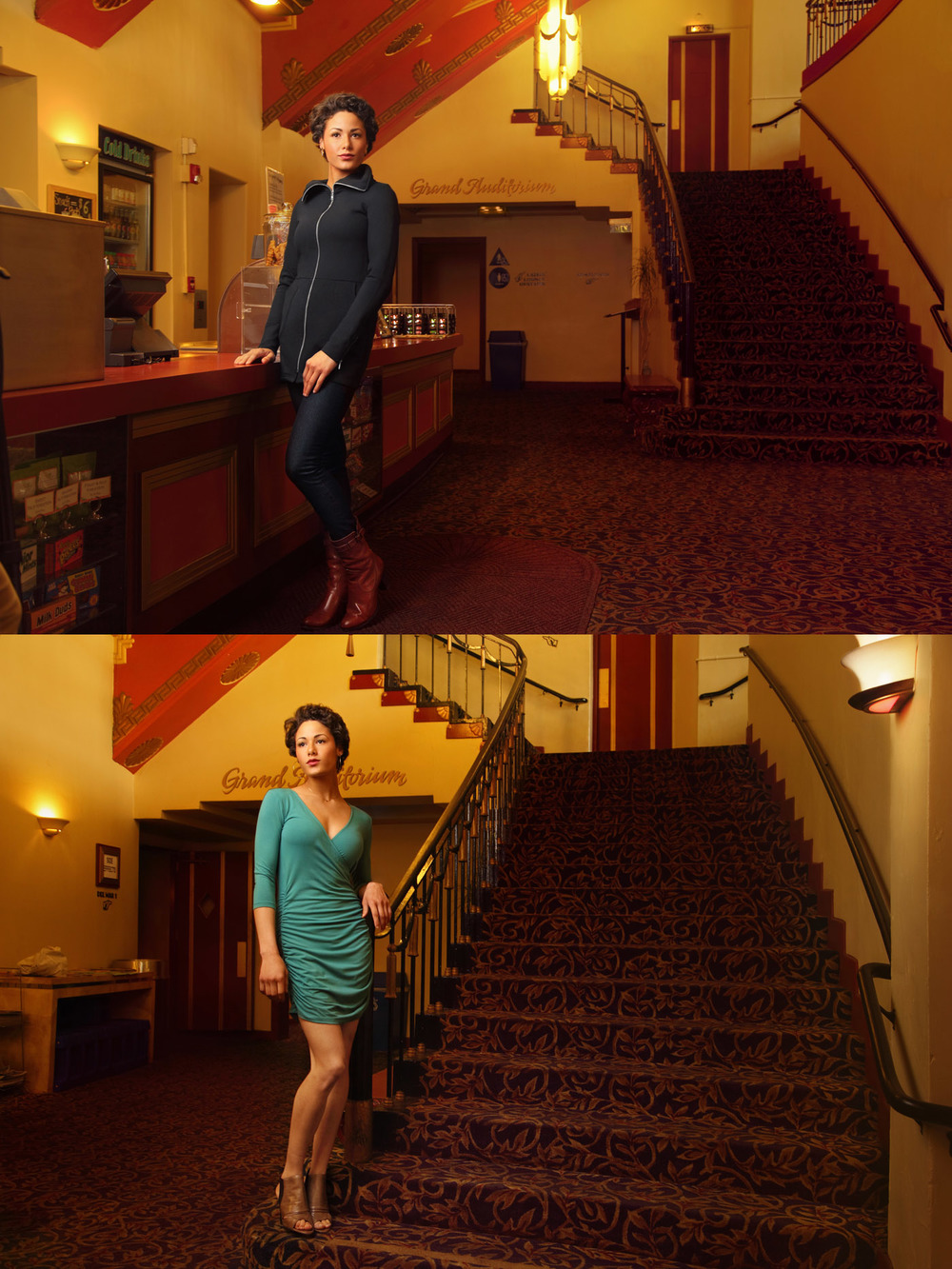 And these are a couple of of the final images from the theater.