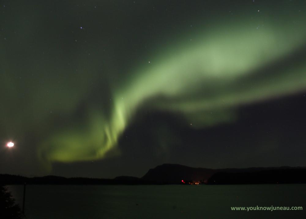 View of Aurora Borealis from Douglas Island