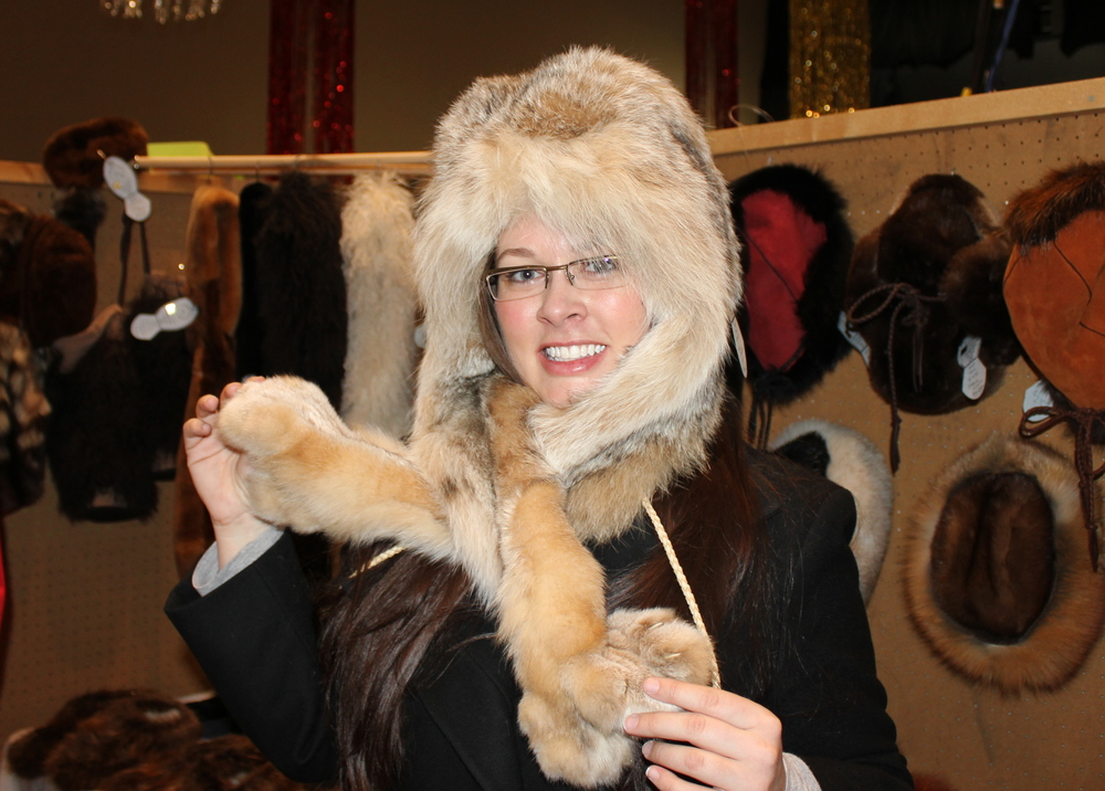 It's not every day a Southern woman gets to wear a lynx.  On her HEAD.