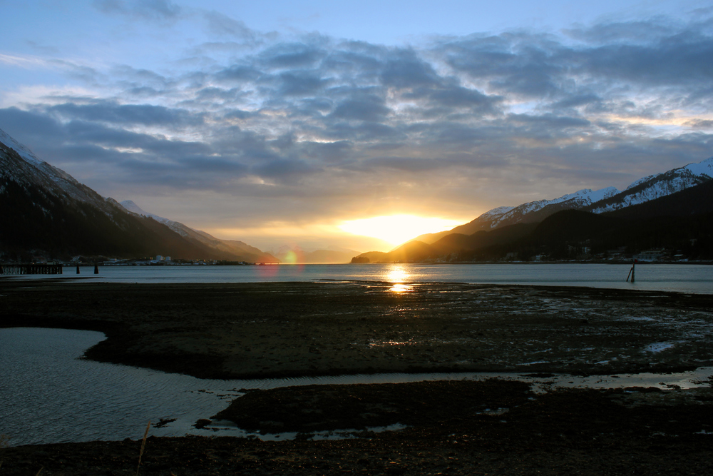 Sunrise over Gastineau Channel