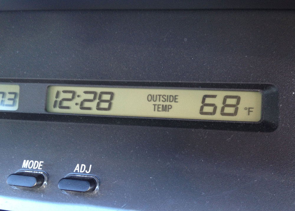 I wasn't expecting it to be this warm IN THE WINTER.