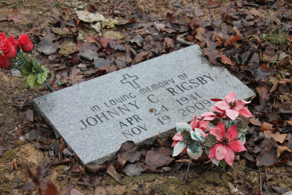 The headstone my Uncle Pug had made to commemorate the area where my Dad's ashes were spread.