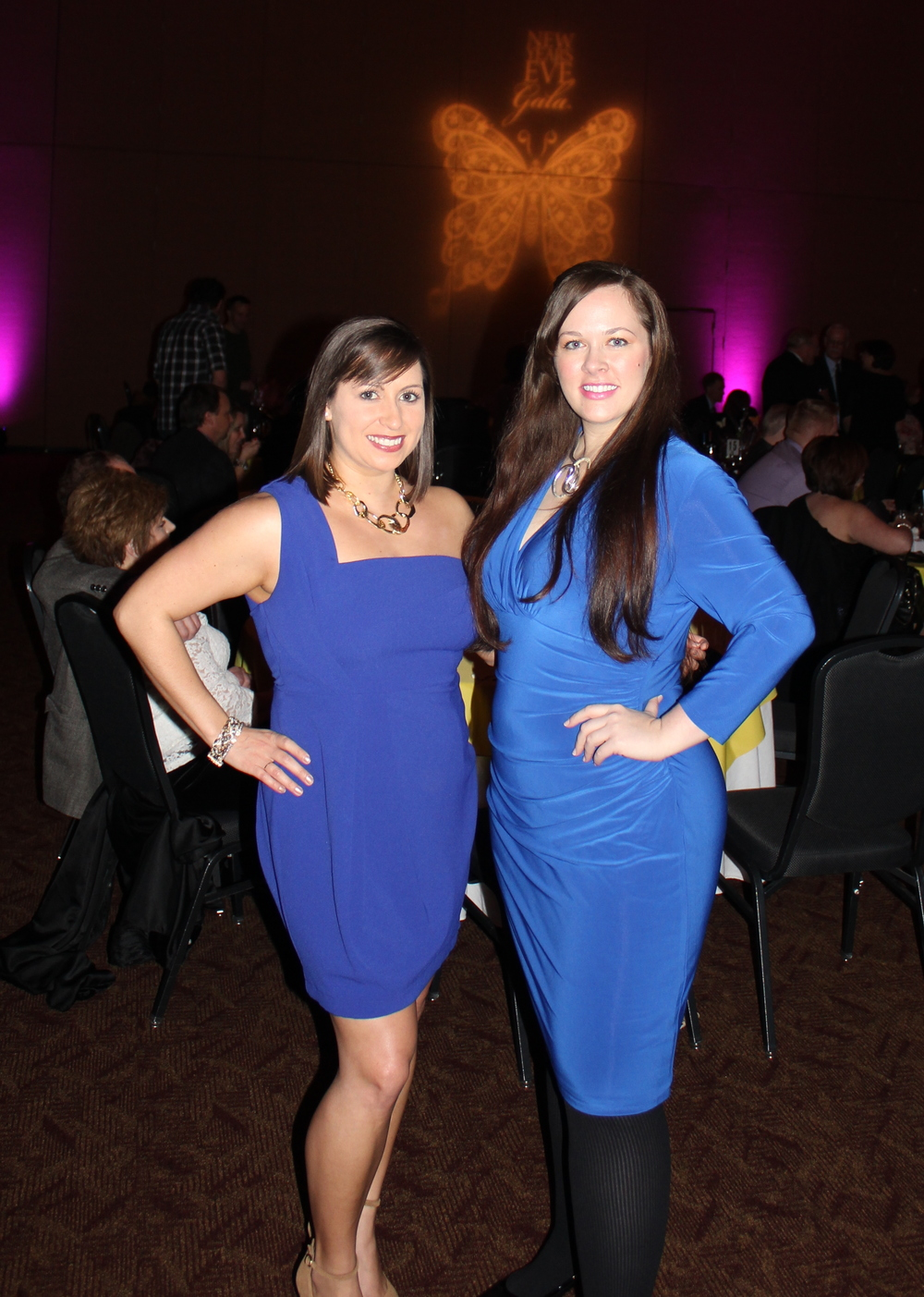 With Carmen, my gorgeous best friend.  Clearly, my love of blue is wearing off on her.