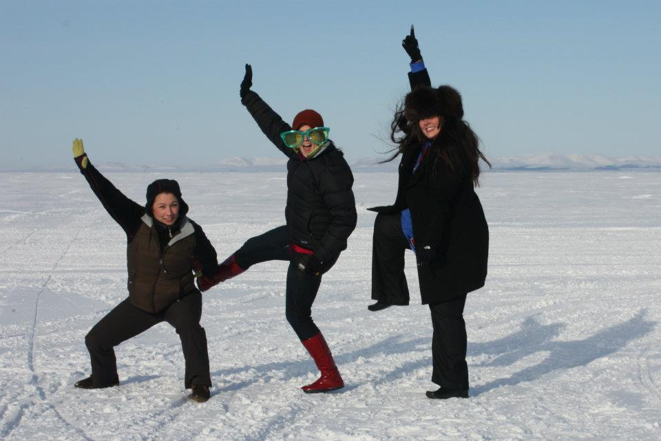 Charlie's Angels on the frozen Chukchi Sea.