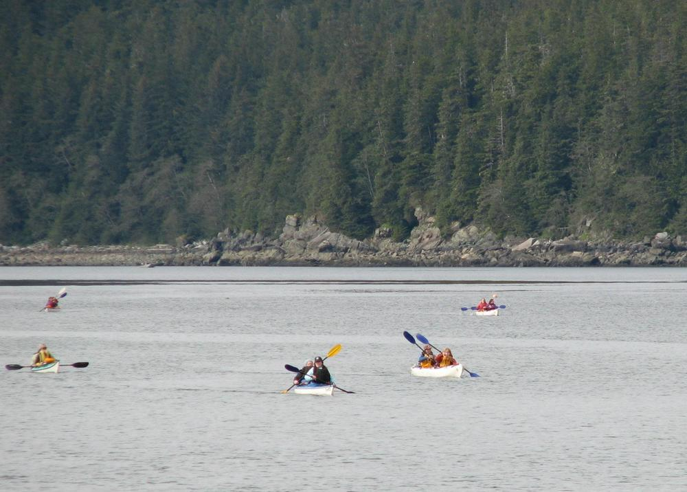 Kayaking at Echo Cove near Juneau.
