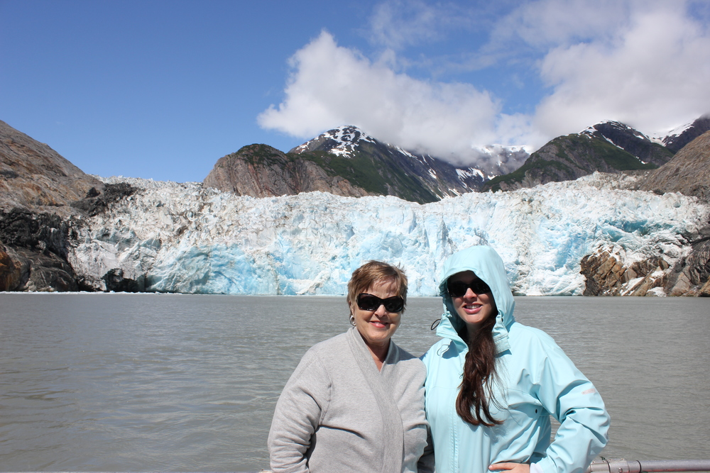 Mom and I at the Sawyer Glacier.