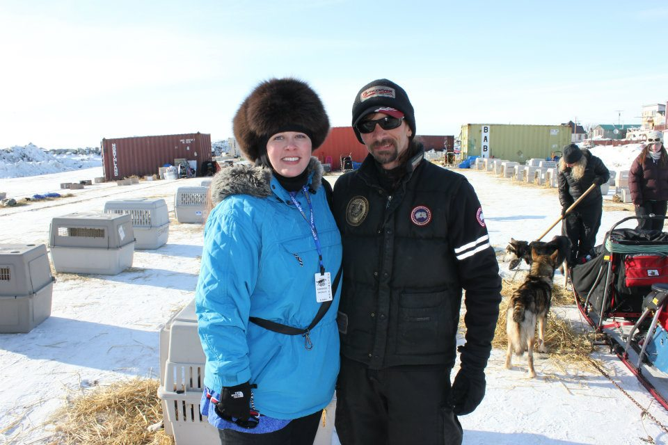 With Lance Mackey, four-time winner of the 1,000-mile Yukon Quest and four-time winner of the Iditarod Trail Sled Dog Race.  Lance loves his dogs and shows genuine appreciation for his fans!