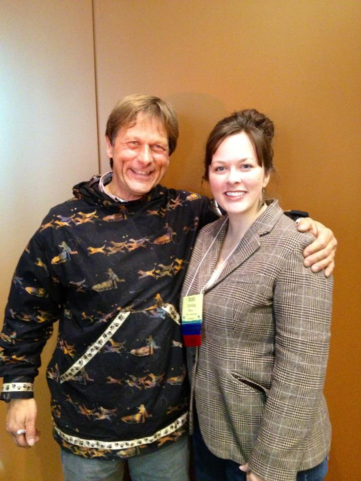 "With Martin Buser, four time Iditarod champion.  Martin was the keynote speaker at a conference I attended last fall. He spoke on ""  Elevating  the Team: You Only Travel as Fast as Your Slowest Dog.""  What an  invigorating presentation and such a dynamic speaker!"