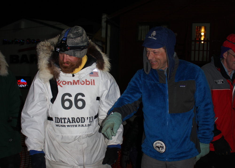 James with his mentor, four-time Iditarod champion, Martin Buser.