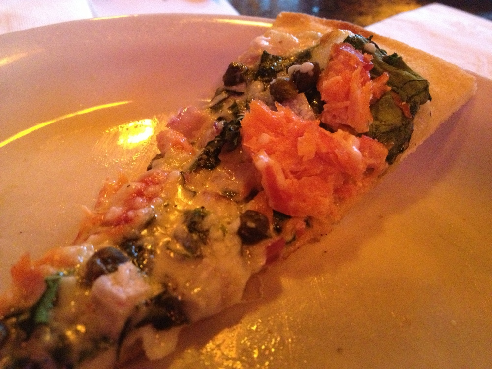 Smoked salmon on a pizza?!  Yes, please.