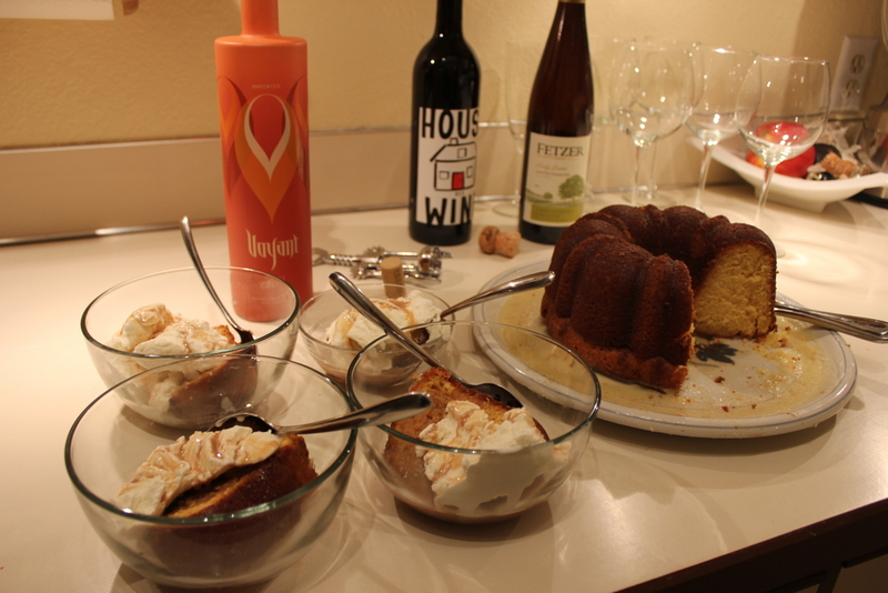 Becky's Famous Rum Cake + Häagen-Dazs + Chai Cream Liqueur = decadence