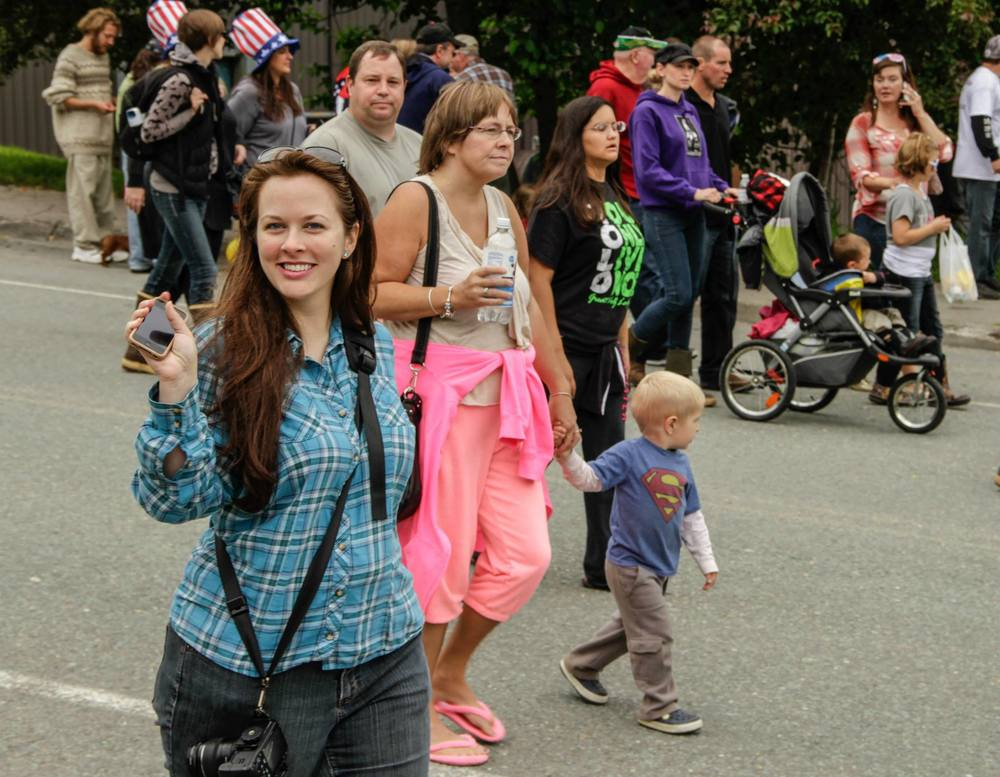 Photo of me strolling after the parade, courtesy of my good friend, Kerry Howard.