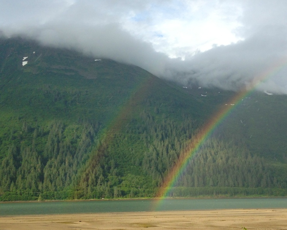 Double rainbows over Gastineau Channel.