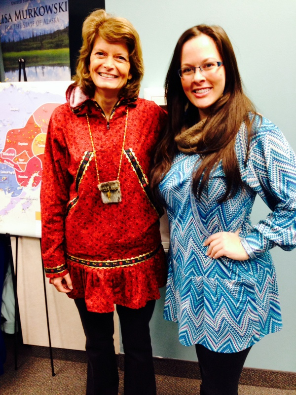 U.S. Senator Murkowski and I in our kuspuks.  Such a genuinely nice woman!