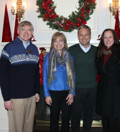 From left to right: Lieutenant Governor Mead Treadwell, First Lady Sandy Parnell, Governor Sean Parnell, and me.