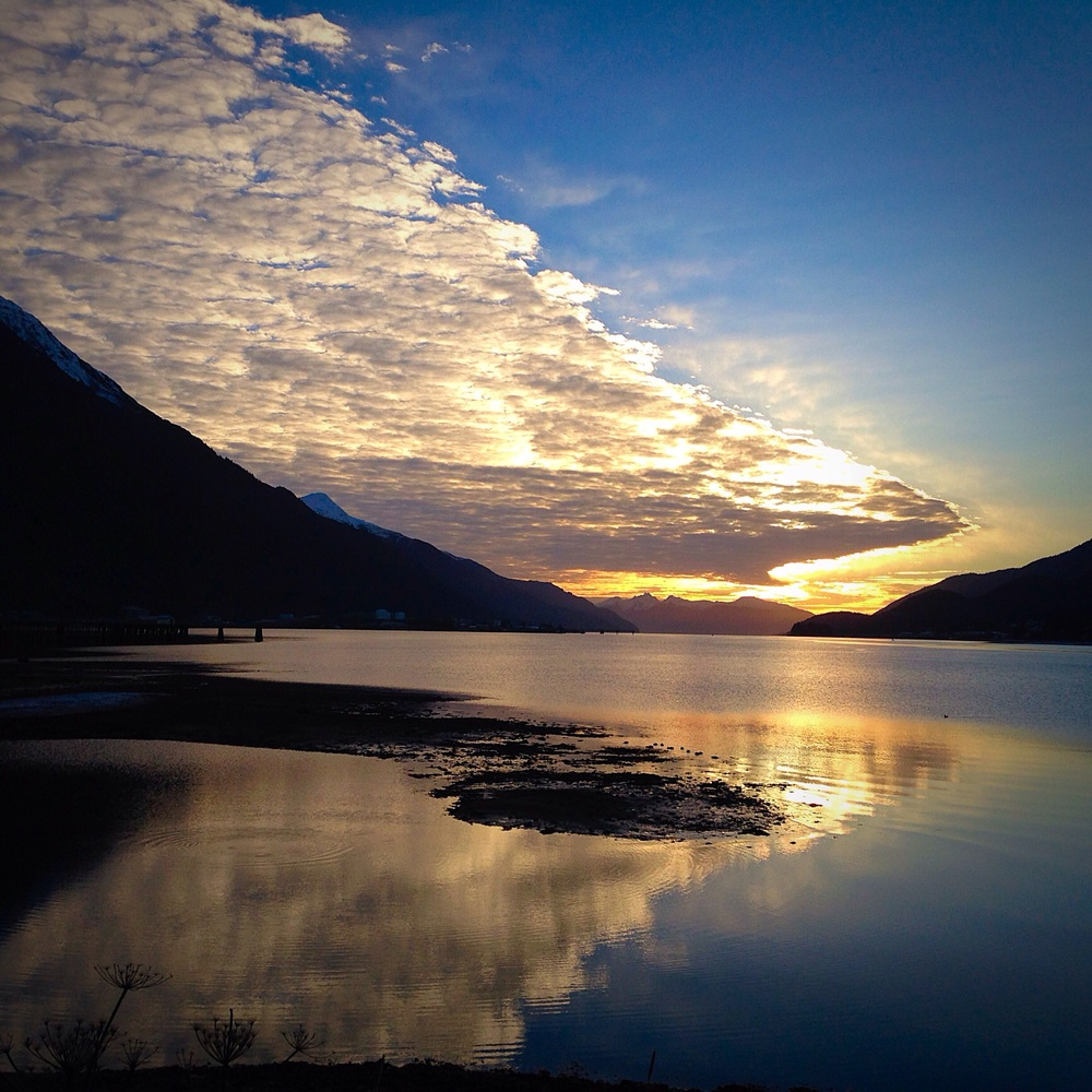 A Gastineau Channel sunrise as seen from my iPhone.
