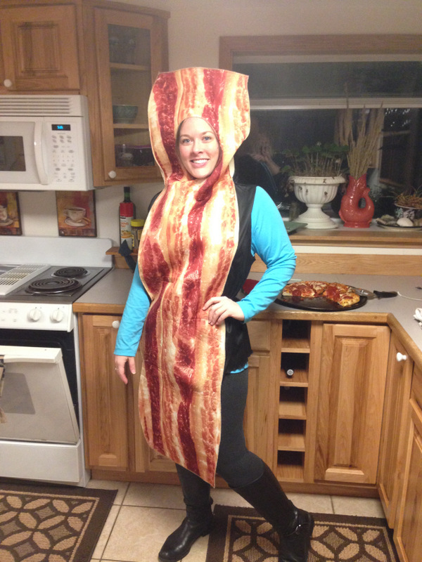 And of course, what shindig is complete without a bacon costume?