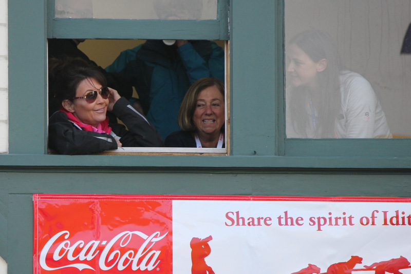 Sarah Palin at the start of the Iditarod.