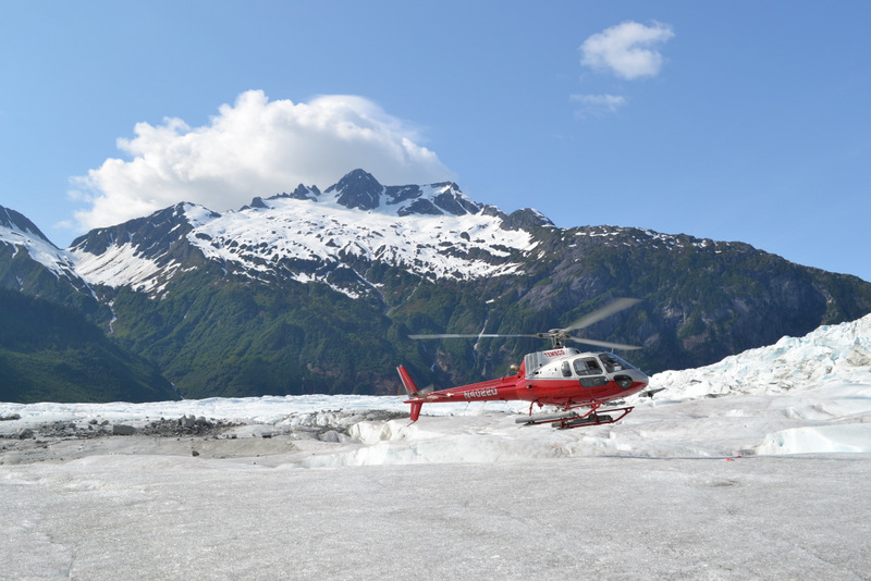 TEMSCO helicopter on Mendenhall Glacier.