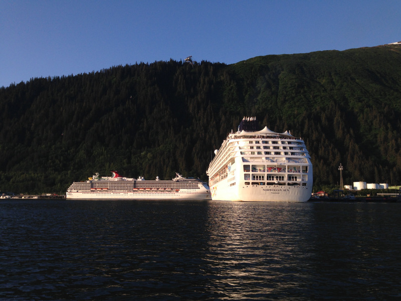 Cruise ships in the Gastineau Channel.