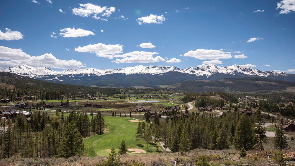View across The Highlands and Breckenridge Golf Club, looking towards Tenmile Range.