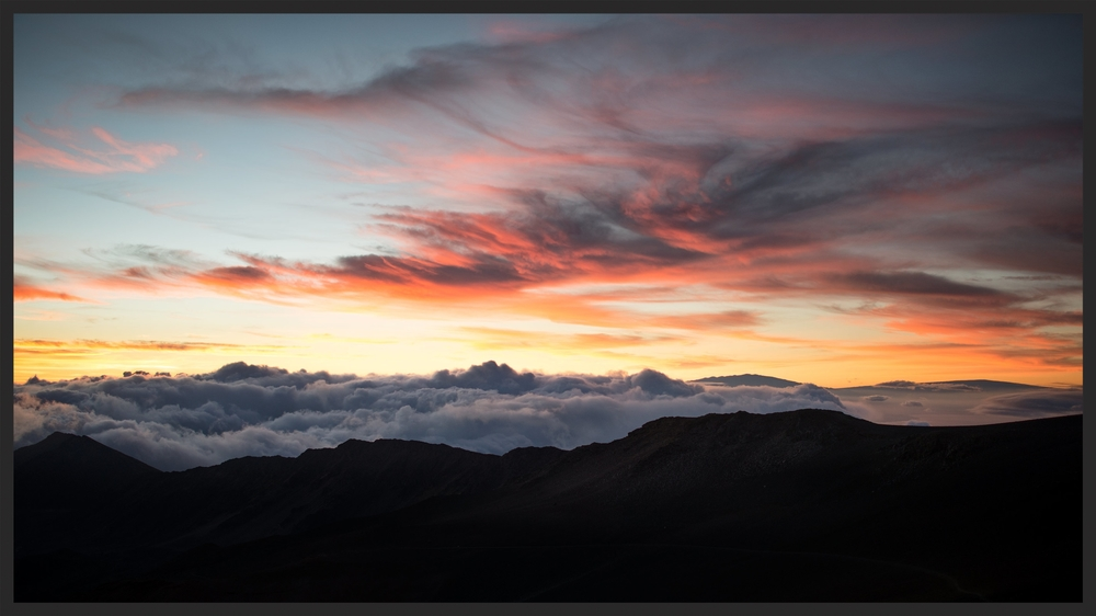 Sunrise over Haleakalā, Maui County, Hawaii