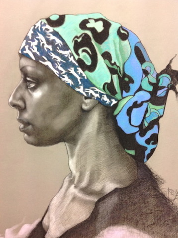 Duncan Rosslyn Aisha,pastel and charcoal on paper..jpg