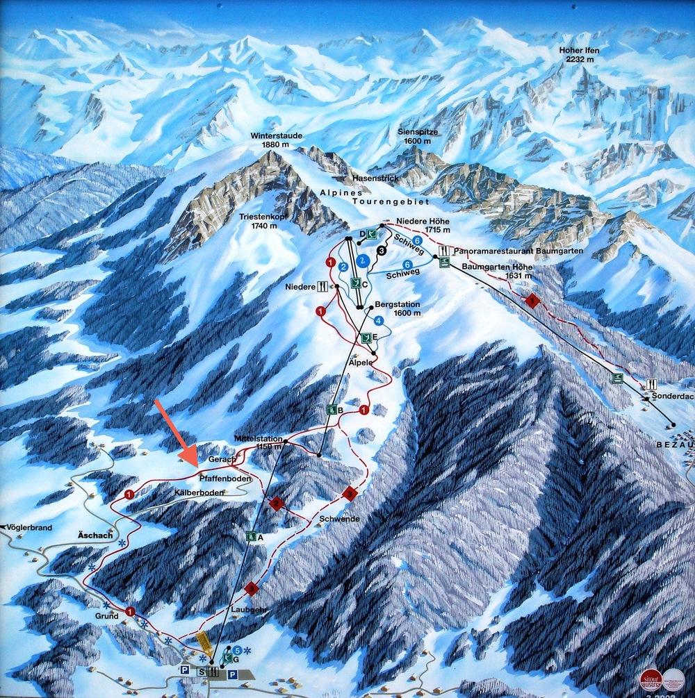 Lageplan Bergbahnen Andelsbuch