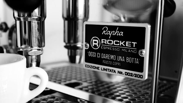 Rocket Espresso Machine http://www.rapha.cc/rocket-espresso-for-rapha)