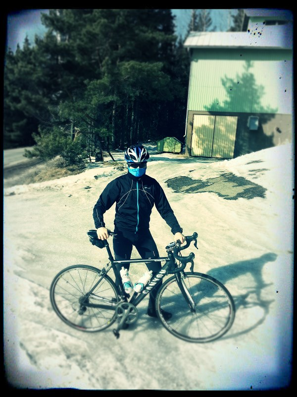 First outdoor ride, +1 degrees Celsius and still a lot of snow around