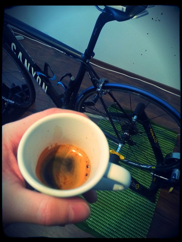 Early season preparations setting up the bike, should be done with espresso
