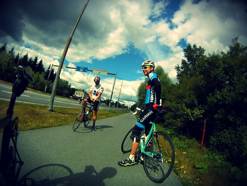 Today was more of a relaxing day in the saddle. Also met some local teammates on the road!