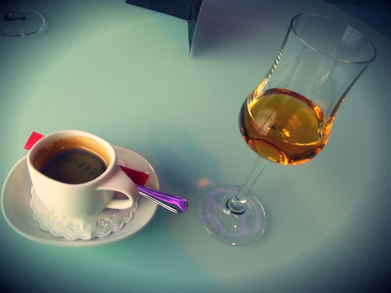 One needs to take some hours off the bike as well. Coffee and Calvados is one way of doing it.