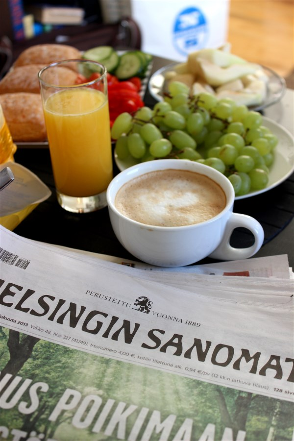Sunday mornings, morning paper and proper breakfast. Life.