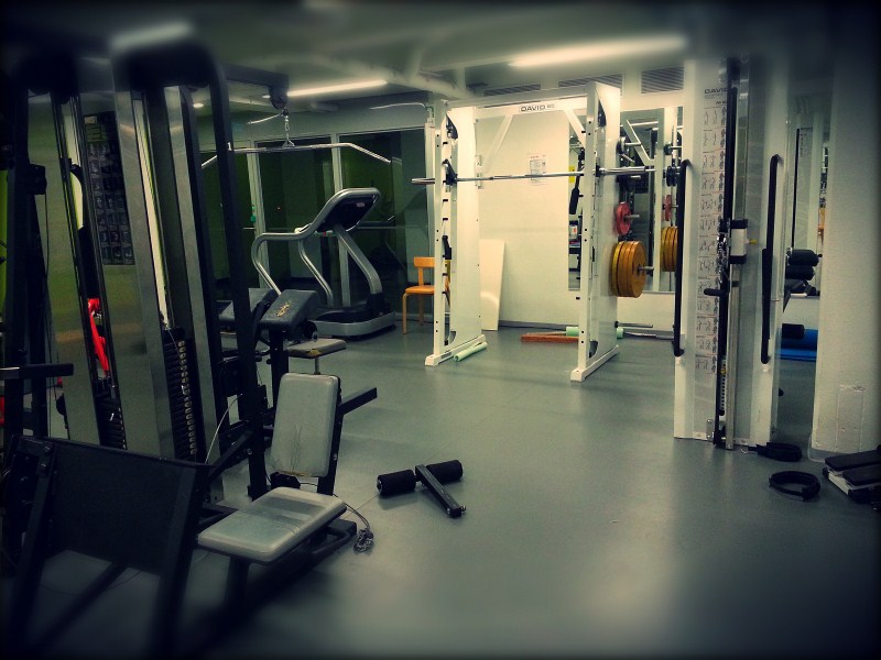 Silent gym early in the morning